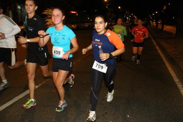 Angela em uma das muitas maratonas que tem participado.