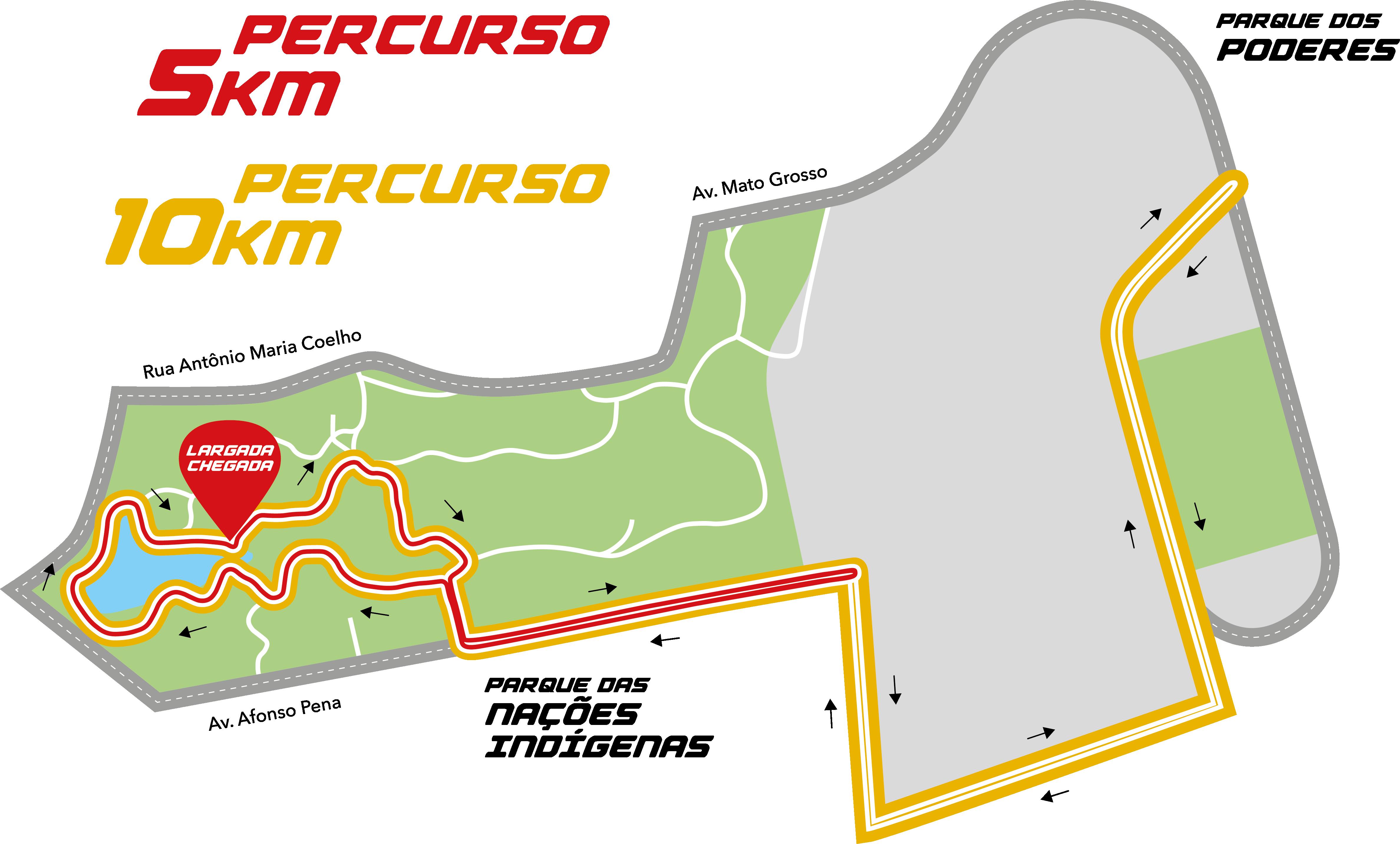 mapa de percursos São Bento Night Run   Campo Grande MS   Mapa do Percurso mapa de percursos